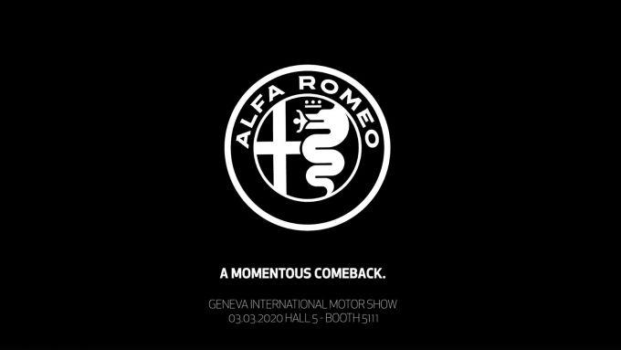 L'immagine del teaser pubblicato su Facebook da Alfa Romeo per Ginevra