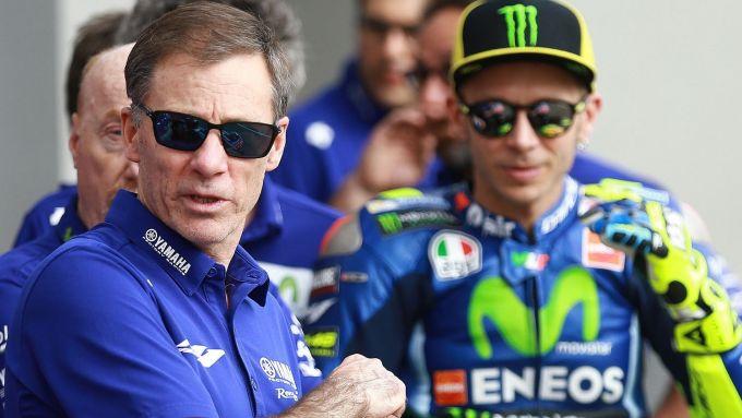 Lin Jarvis e Valentino Rossi
