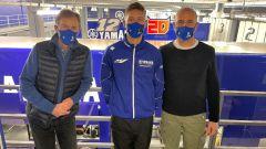 Lin Jarvis, Fabio Quartararo e Maio Meregalli (Yamaha Factory Racing)