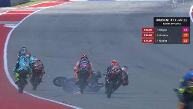 L'incidente della gara Moto3 di Austin