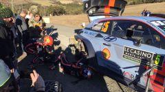 l'incidente di Neuville e la sua Hyundai i20 Coupé danneggiata - WRC 2017 Rally Monte-Carlo