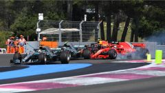 L'incidente tra Vettel e Bottas