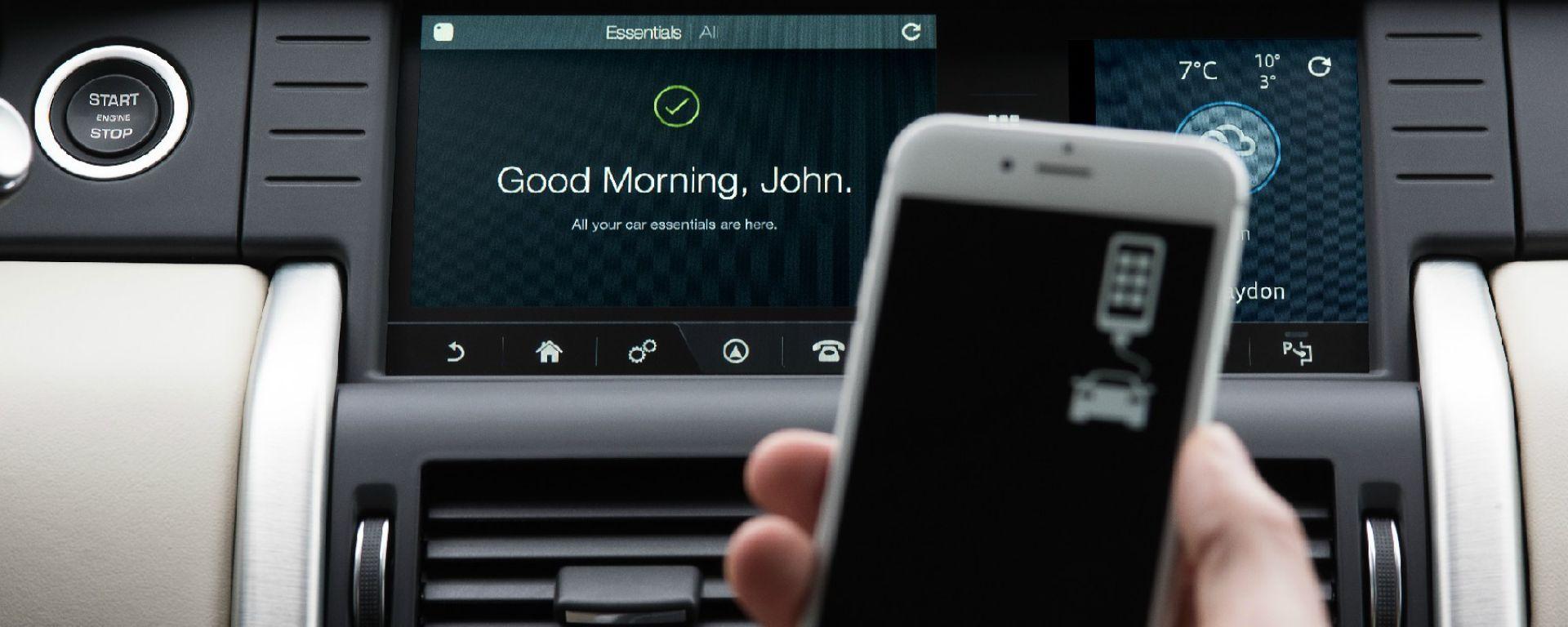 L'infotainment della Land Rover Discovery Sport è predisposto per i localizzatori Tile