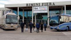 L'ingresso all'International Bus Expo presso Rimini Fiera