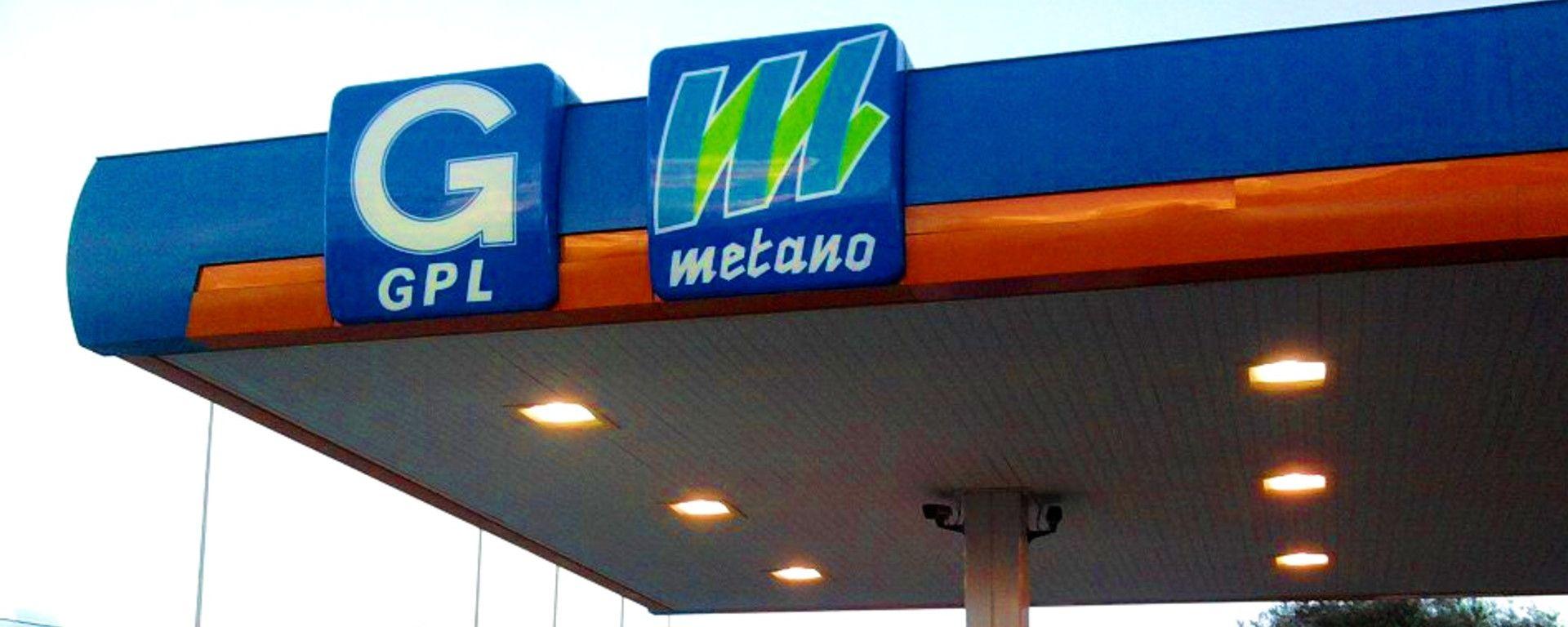 L'insegna di un distributore di GPL e metano