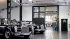 L'interno del reparto Mercedes Classic