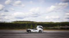 L'Iron Knight ha coperto un km in soli 21.29 secondi, a una velocità media di 169 km/h