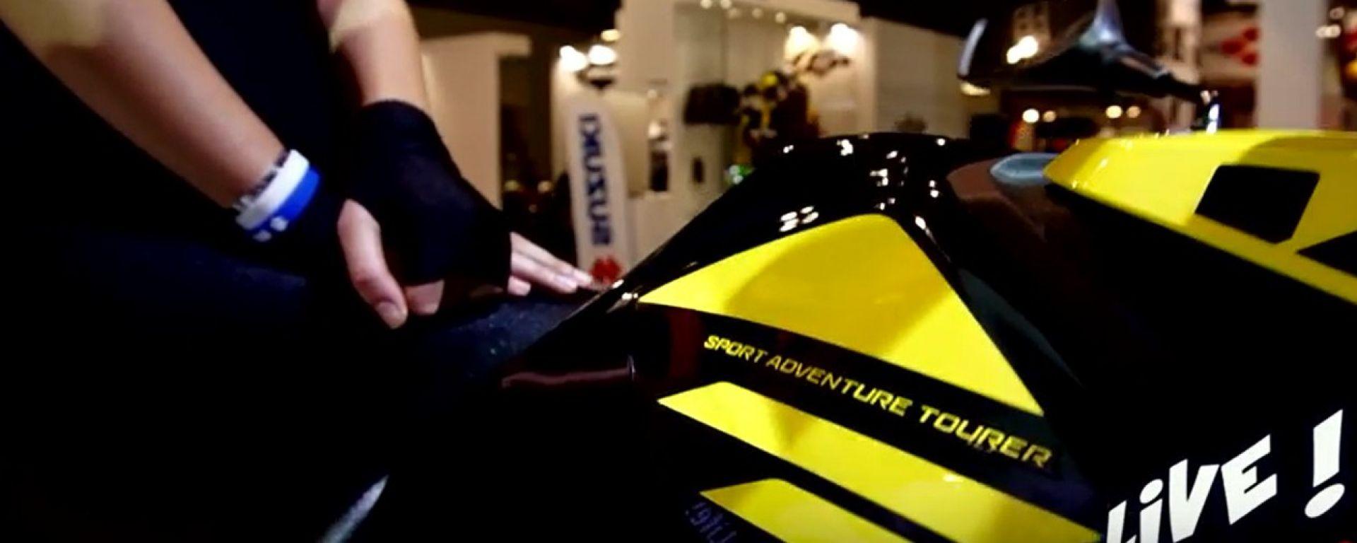 Live Eicma 2016: Suzuki V-Strom 250 ABS in video