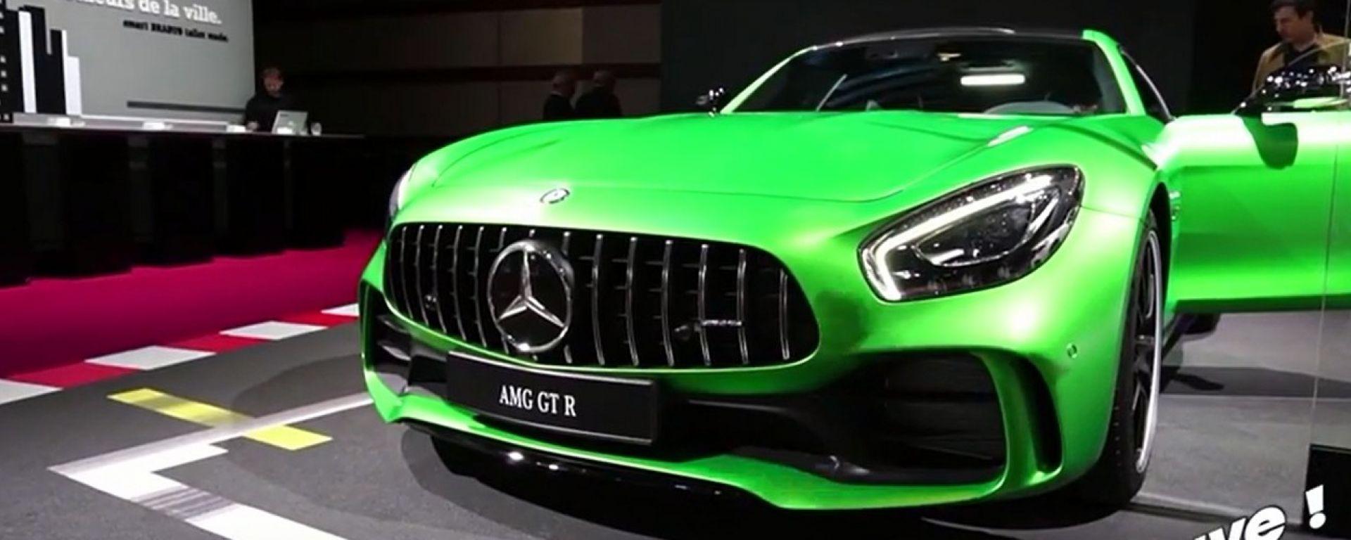 Live Parigi 2016: Mercedes AMG GT R ed EQ Concept in video
