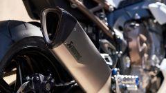 Lo scarico Akrapovic optional per la BMW S 1000 R 2021