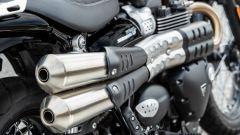 Lo scarico Double Rifle della Triumph Street Scrambler 2019