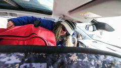 lo schienale del sedile passeggero della C3 Aircross si ripiega 90° per una lunghezza carico massima di 2,40  metri