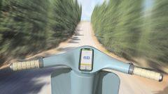 Lo smartphone fa da strumentazione e chiave sulla Vespa Elettra
