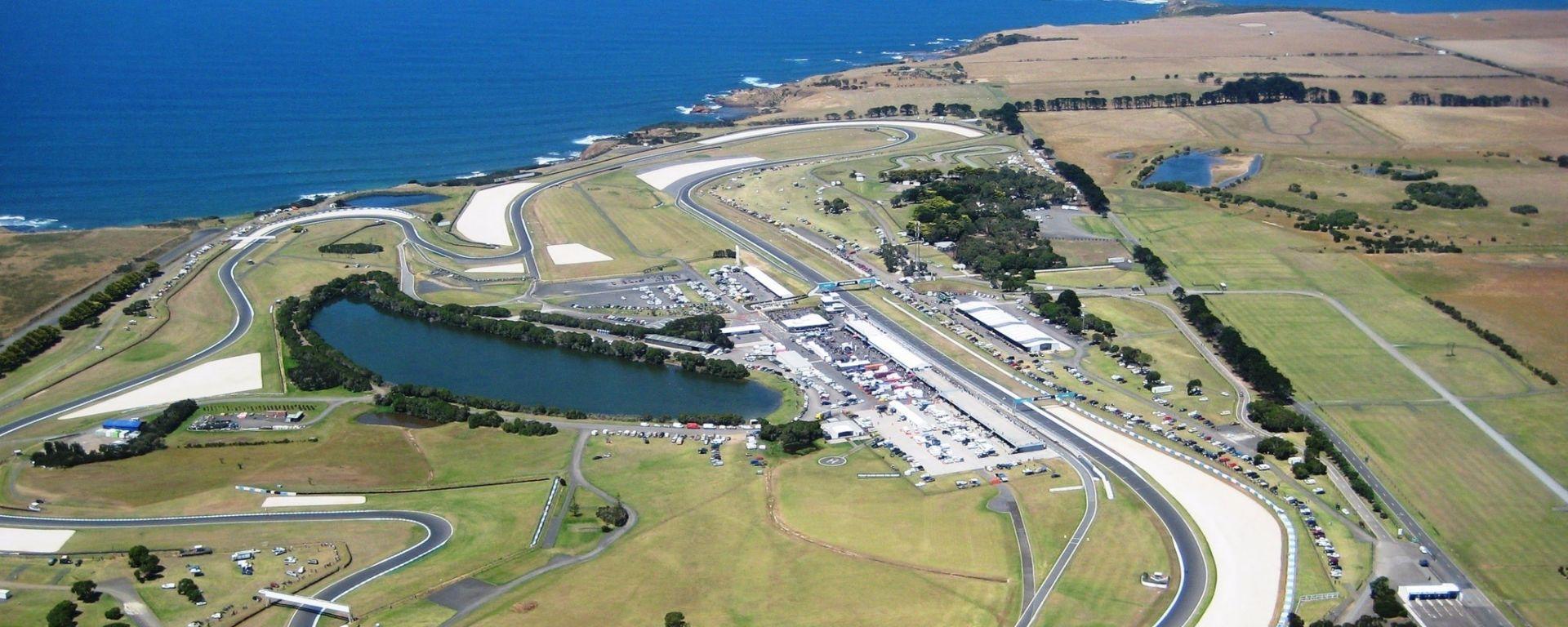 Lo spettacolare circuito di Phillip Island, Australia
