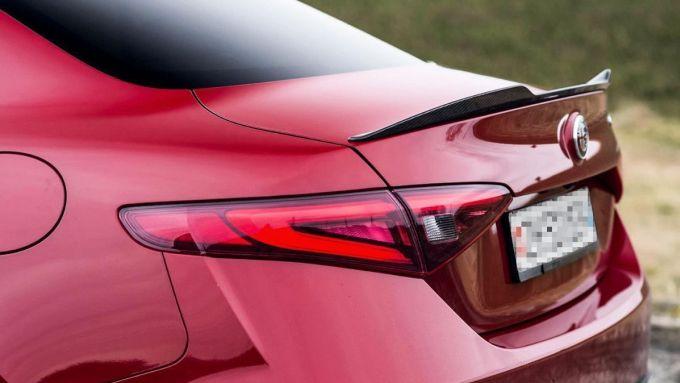 Lo spoiler posteriore di Alfa Romeo Giulia Quadrifoglio