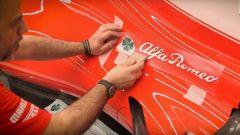 Lo sponsor Alfa Romeo sulla Ferrari