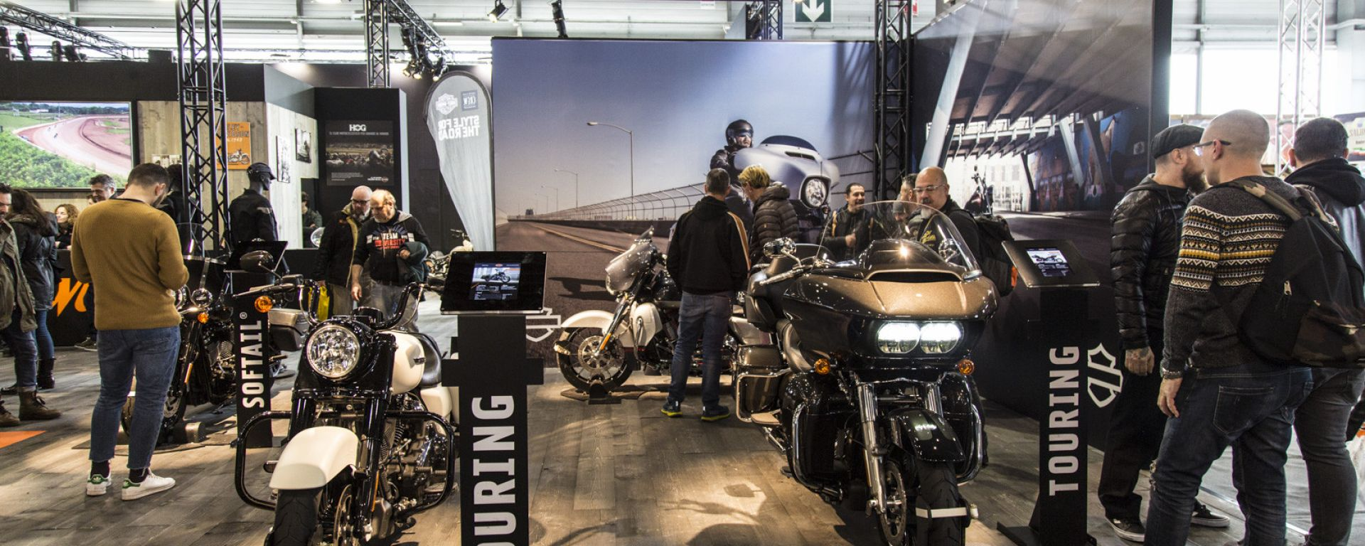 Lo stand di Harley-Davidson di Verona