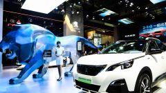 Lo stand Peugeot al Salone di Pechino 2020