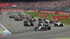 Lo start del GP di Germania, 2015