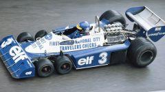 Lo svedese Ronnie Peterson al volante della Tyrrell P34 nel 1977