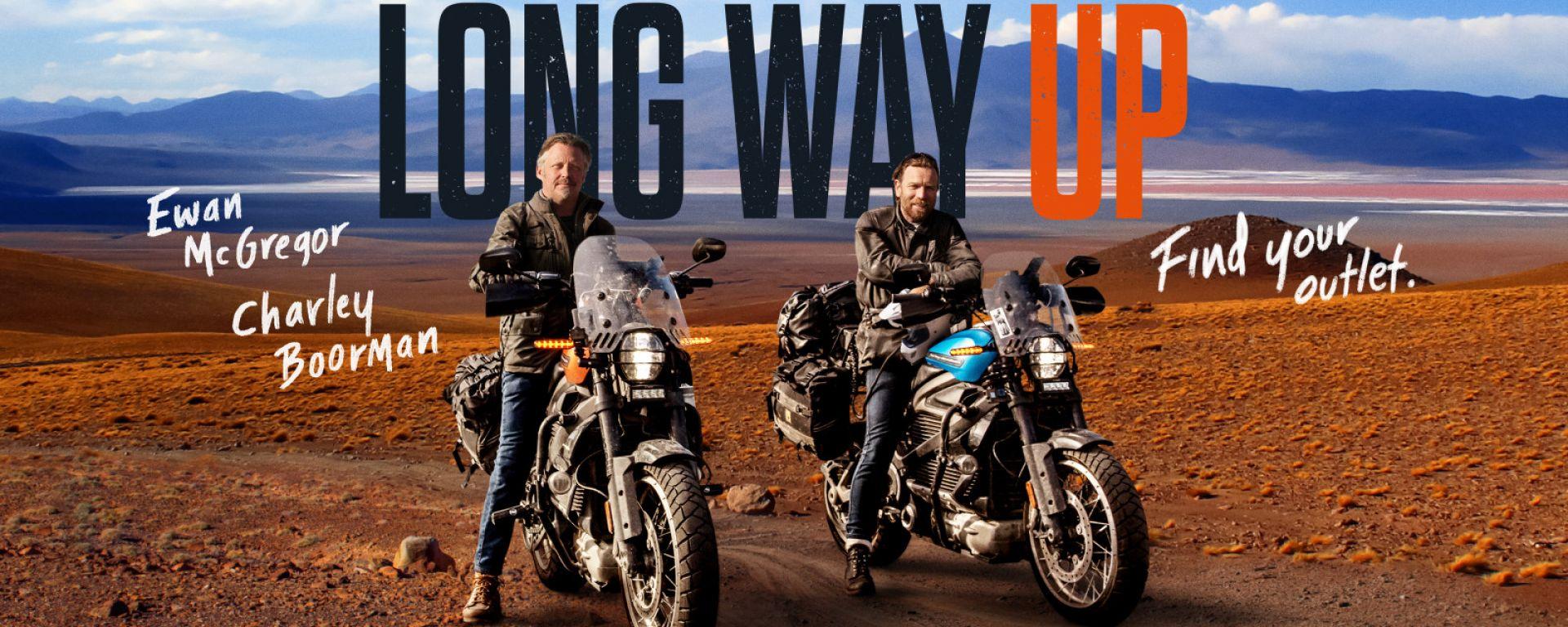 """""""Long Way Up"""", il mega viaggio di Ewan McGregor con la LiveWire"""