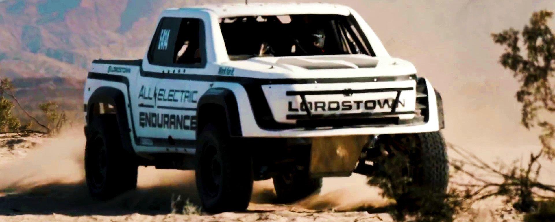 Lordstown Endurance, il pick-up elettrico: vista 3/4 anteriore