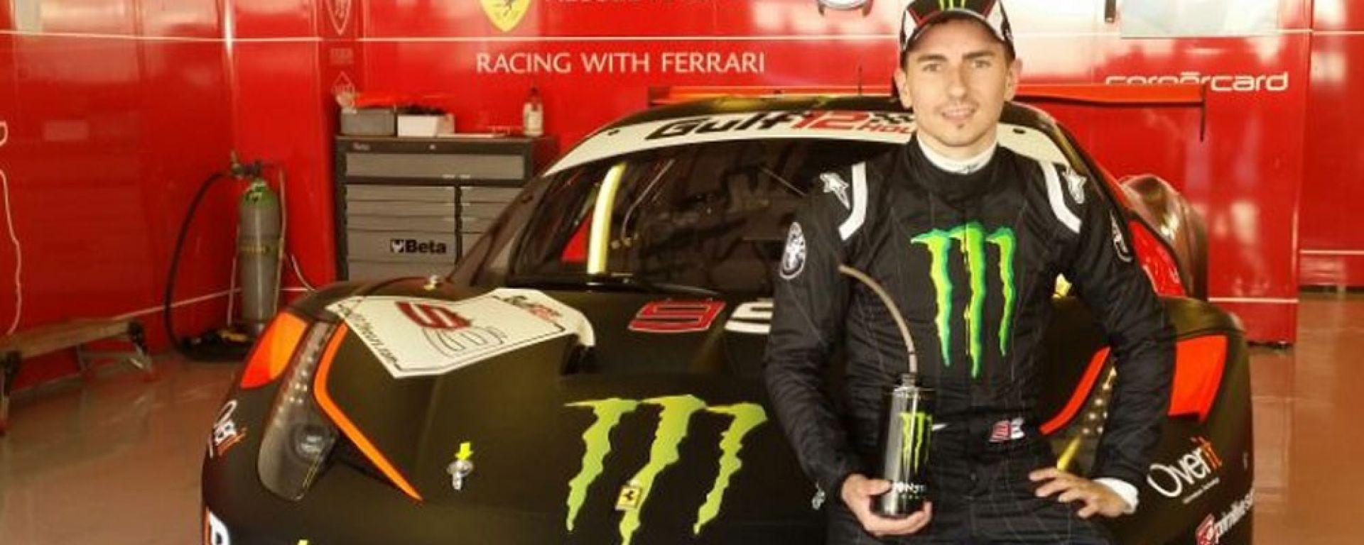 Lorenzo alle 12 ore di Abu Dhabi - Ferrari Kessel Racing