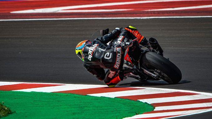 Lorenzo Savadori al Misano World Circuit