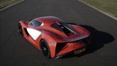 Lotus Evija: il pacco batterie è in posizione posteriore centrale