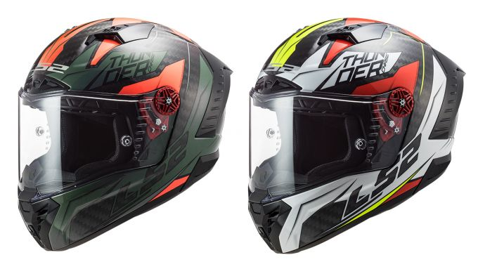 LS2: casco uomo integrale in carbonio Thunder