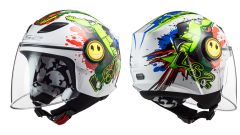 LS2 Helmets OF602 Funny Croco White