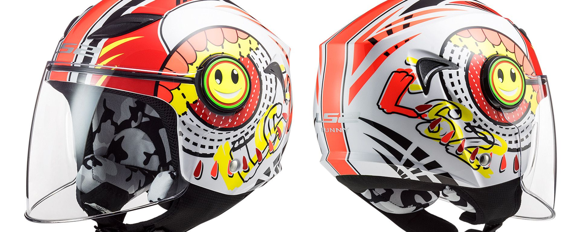 LS2 Helmets OF602 Funny Slurch Red