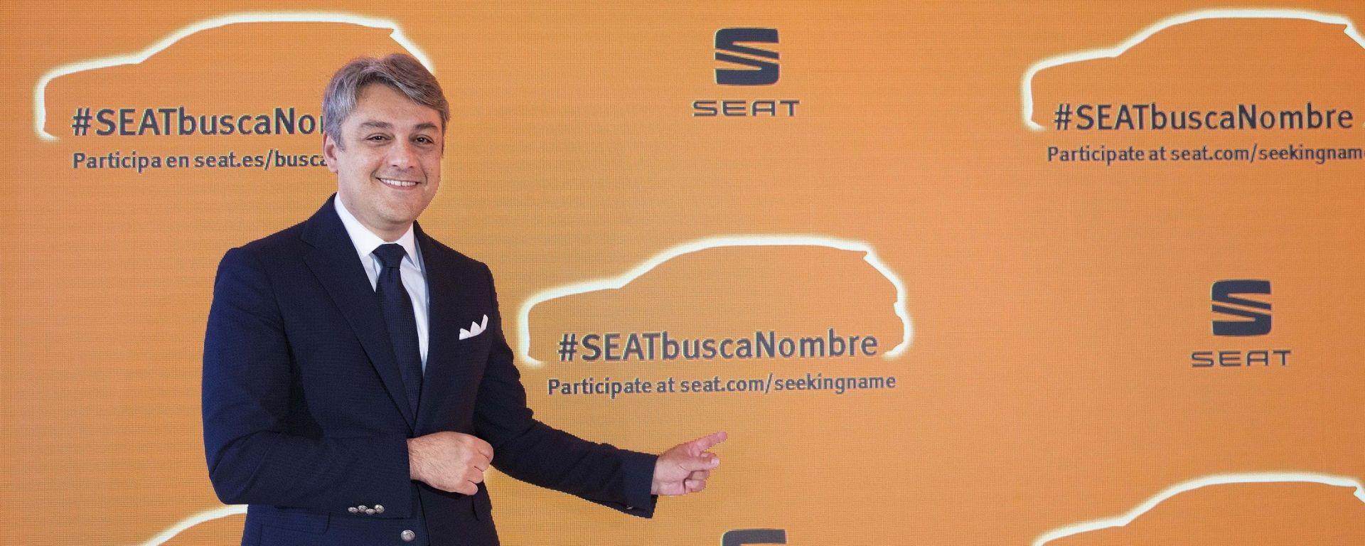 Luca de Meo, presidente Seat, lancia il concorso #SEATSeekingName
