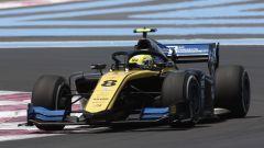 Luca Ghiotto in pista a Le Castellet in questa stagione di Formula 2