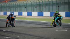 Luca Marini (Ducati) e Valentino Rossi (Yamaha)