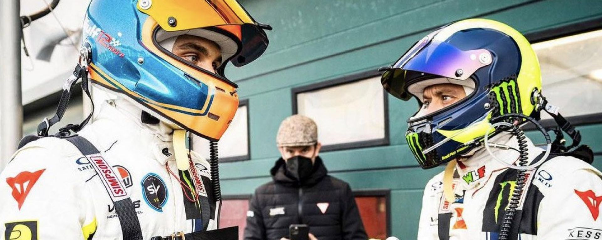 Luca Marini e Valentino Rossi