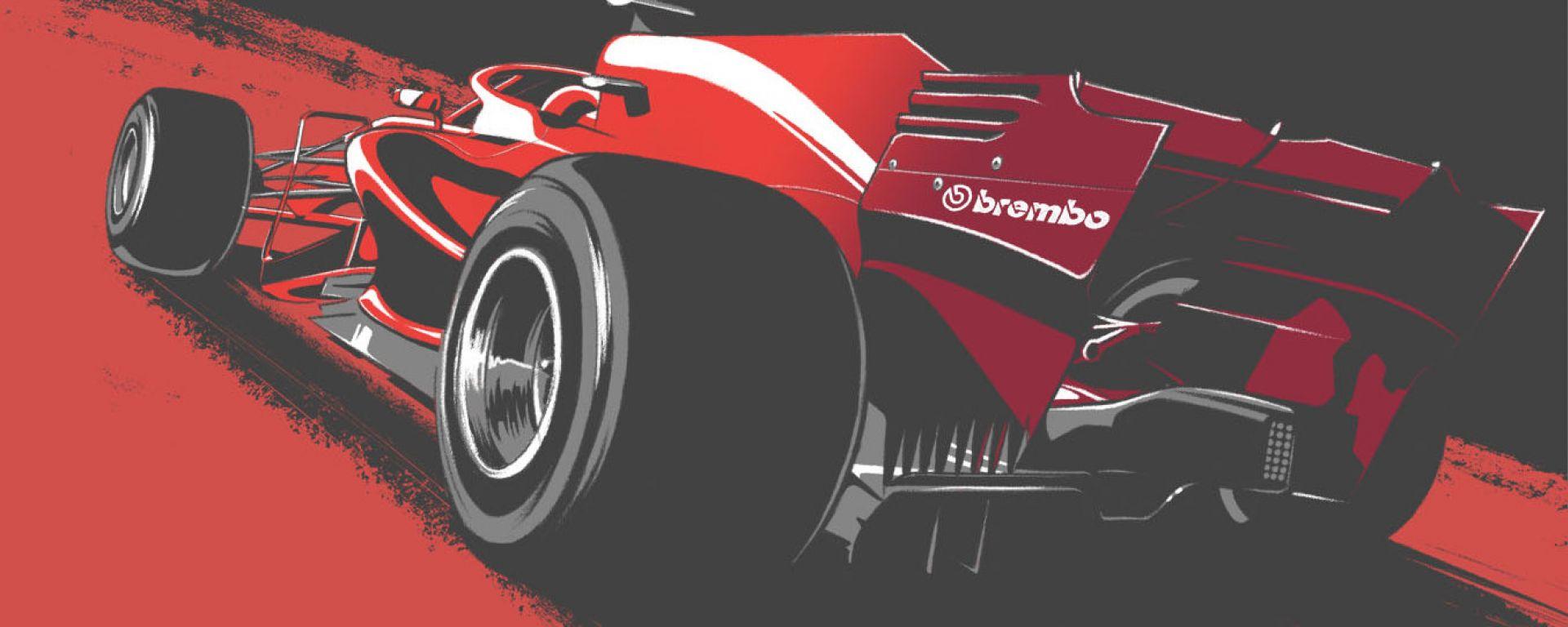 Lunghezza frenata Ferrari by Brembo