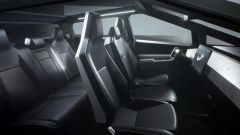L'unica immagine degli interni minimalisti di Tesla Cybertruck