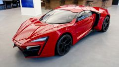 Lycan HyperSport in NFT: visuale di 3/4 anteriore