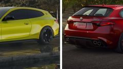 BMW M4 Shooting Brake vs Giulia Quadrifoglio SW: sfida virtuale