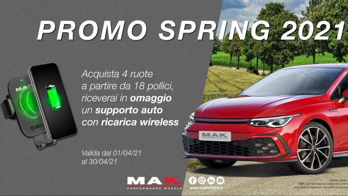 Mak Wheels: la promo Spring 2021