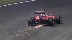 Malaysian GP: la sospensione rotta da Vettel dopo il contatto con Rosberg