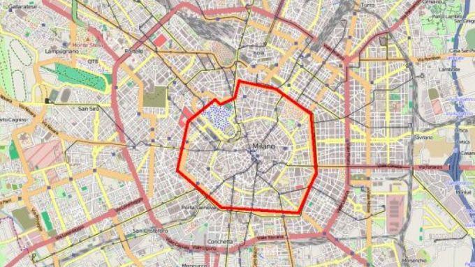 Mappa Area C Milano