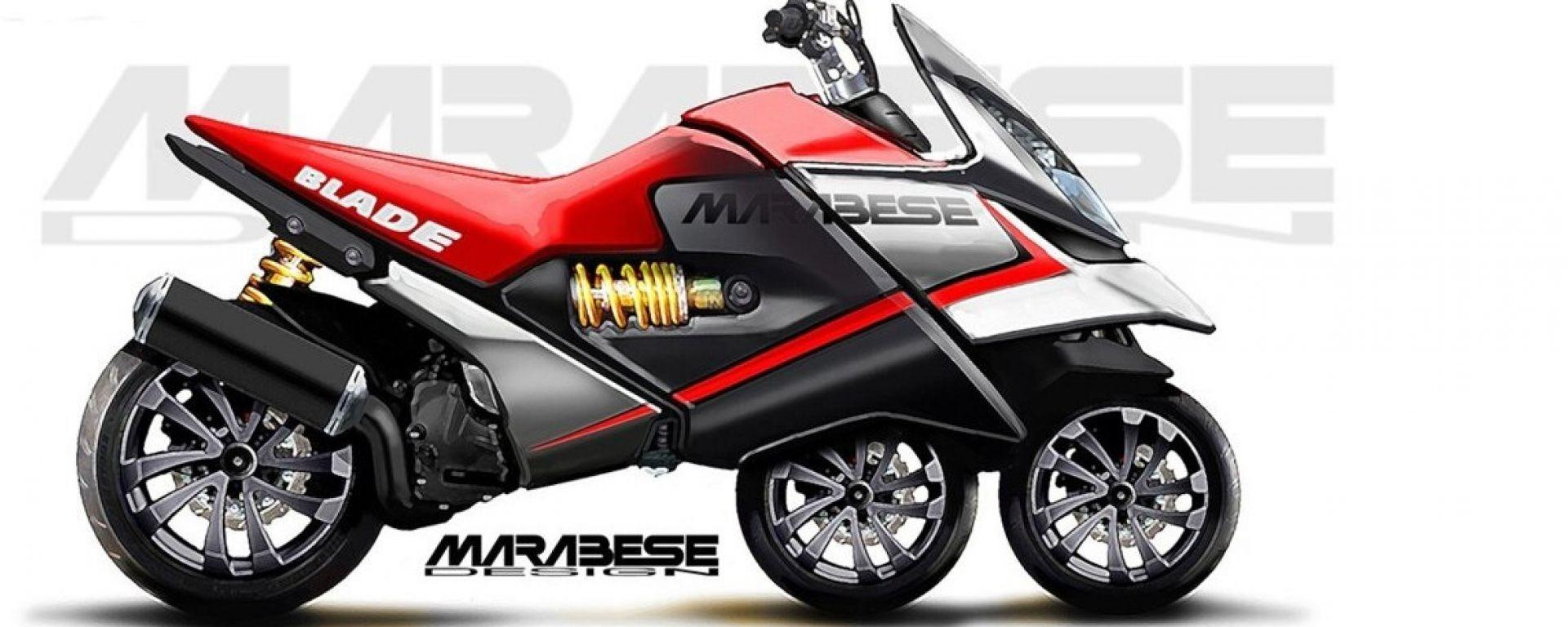 Marabese Blade Bike: la tre ruote in linea