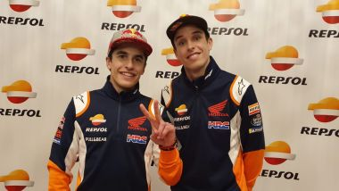 Marc e Alex Marquez alla presentazione del team Repsol Honda HRC 2020