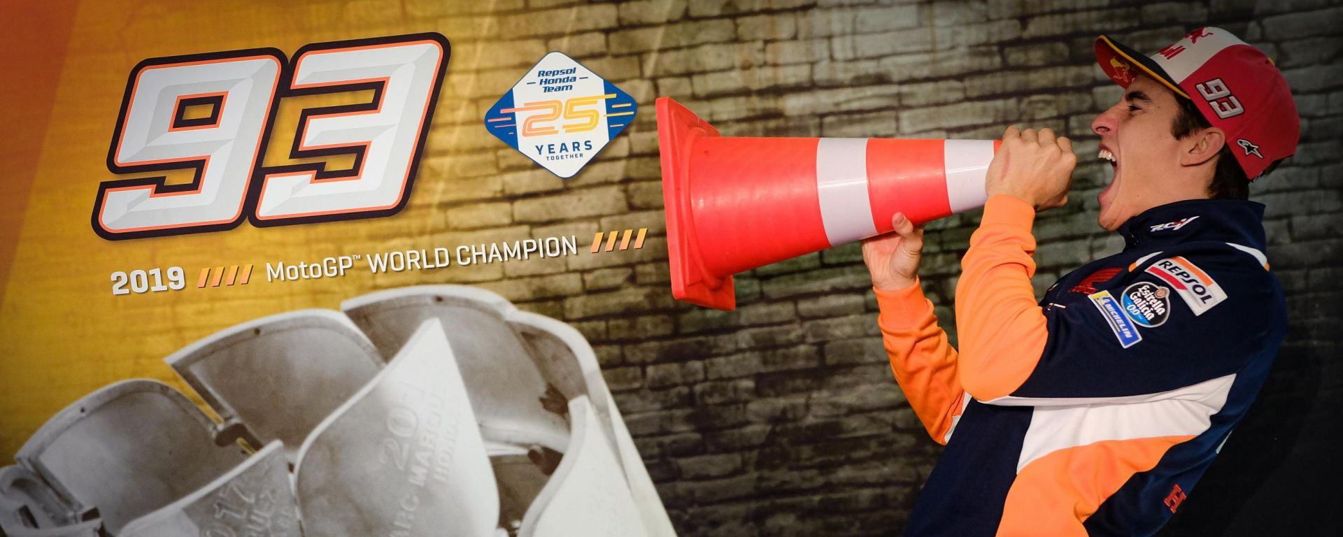 Marc Marquez campione del mondo 2019 della classe MotoGP