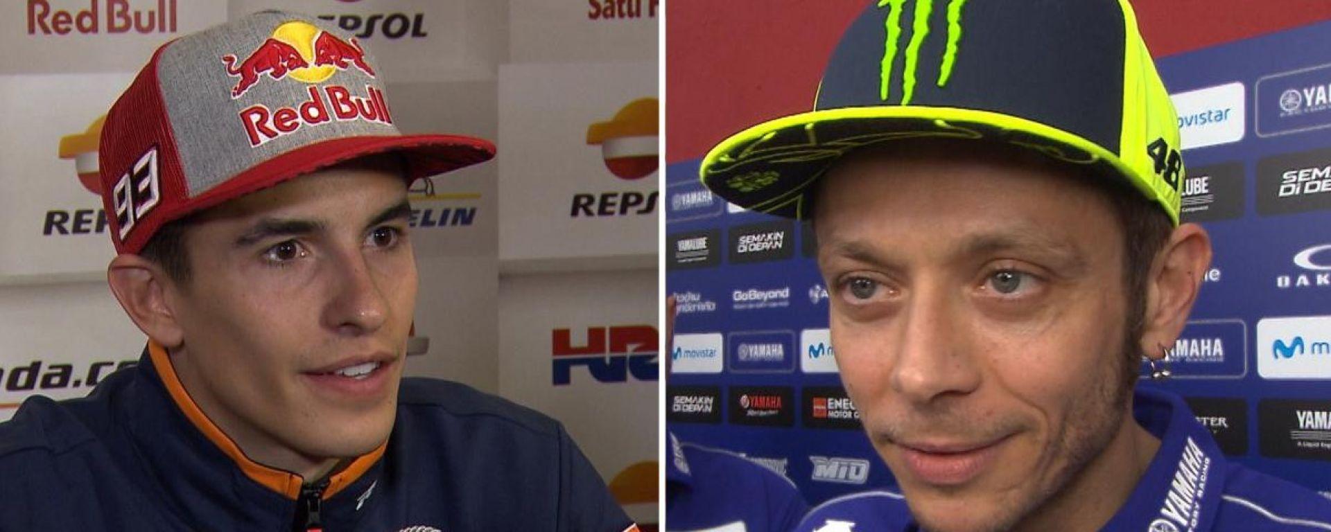 Marc Marquez e Valentino Rossi