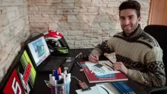 Marco Faccani nel suo studio