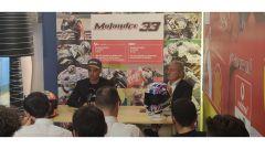 Marco Melandri in conferenza stampa annuncia l'addio alle corse