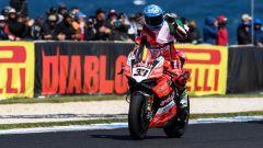 Marco Melandri sulla Ducati Superbike